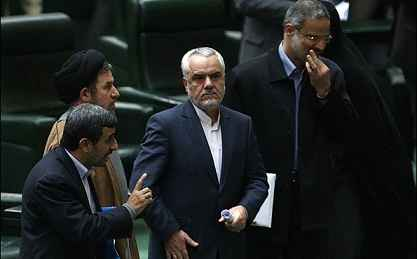 احمدی نژاد مجلس سخنرانی لاریجانی