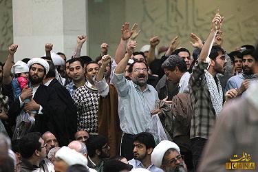 حمله به لاریجانی در سخنرانی 22 بهمن 91 در قم