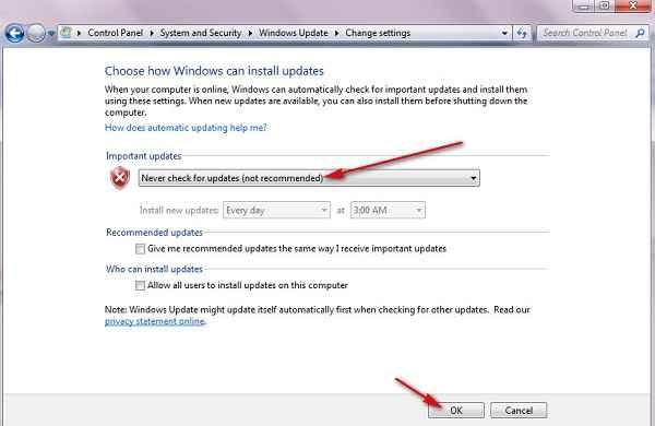 غیر فعال کردن آپدیت ویندوز